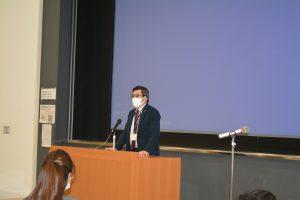 ▲西村入試委員長挨拶